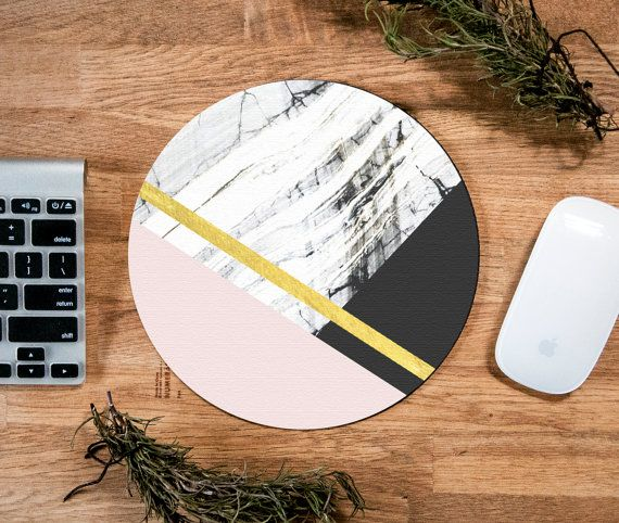 | Marble Print Mousepad | Round, 8 diameter, 1/4 - No budge rubberized backing.   ● About Us: View our Etsy 'About' page: