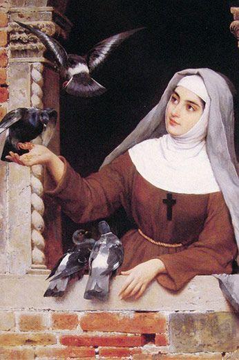 Santa Clara - Santa Clara de Assis, (Chiara D'Offreducci), nasceu no ano de 1194, em Assis, Itália. De família rica, seu pai, Favarone Scifi, era conde. Sua mãe se chamava Hortolana Fiuni. Clara era neta e filha de fidalgos (pessoas da classe nobre). Sua família vivia em um palácio na cidade, tinha muitas propriedades e até um castelo.