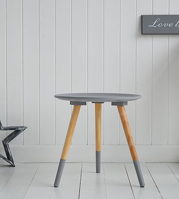 Grey wooden bedside table from The White Lighthouse. 121 best White and Grey Bedside Tables and Cabinets images on