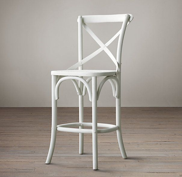Barstool in distressed white oak project turner hill pinterest popular final sale and chairs - Metal madeleine stool ...