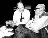 Frank von Hippel and Andrei Sakharov at the Sakharov apartment in Moscow, January 1987, just after the Sakharovs had returned from house arrest in Gorki.