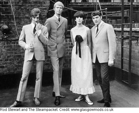 rod stewart and the steampacket 1960s mod fashion