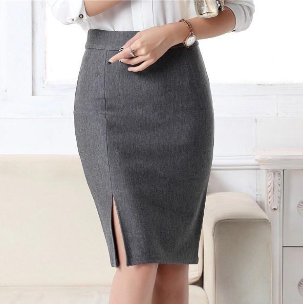 Women Long Skirt Front Split Plaid Retro Vintage Solid Lace Up Midi Skrits Chic