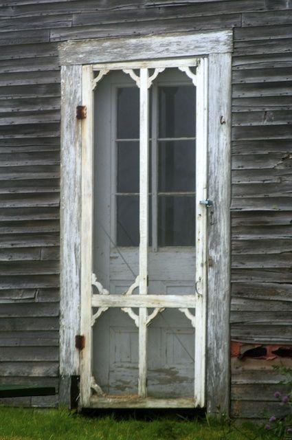 old ornate weathered u0026 worn screen door