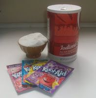 Homemade Gatorade To make 1\2 gallon: 64 oz. (8 cups)Water 1/2 cup sugar 1/2 TSP salt 1 pack kool-aide 2 tbsp lemon juice  Double for 1 gallon.