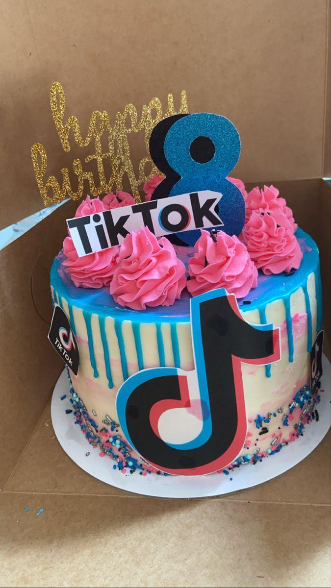 Tiktok Cake Special Birthday Cakes Cool Birthday Cakes 10 Birthday Cake