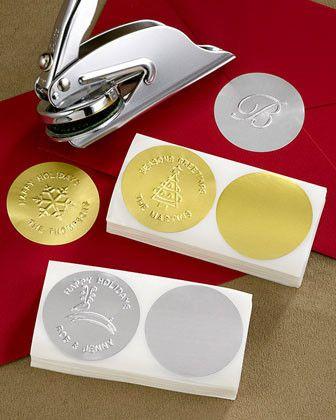 200 Metallic Embossing Seals traditional desk accessories. Embosser--Horchow.com