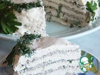 Куриный торт с грибами и глазурью ингредиенты