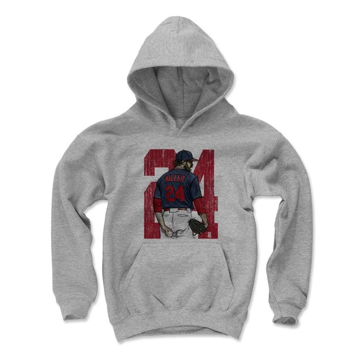Andrew Miller Sketch BR Cleveland MLBPA Officially Licensed Youth Hoodie S-XL