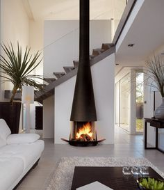 stand alone fireplaces wood burning - Google Search