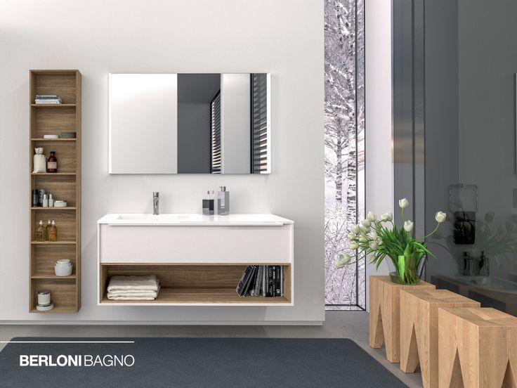 🛁🔝 Linee pulite, estrema essenzialità nelle forme ed innumerevoli possibilità combinatorie di finiture e soluzioni d'arredo. Questo è #Manhattan.  #berlonibagno #home #bathfurniture #bathroom #interiordesign #design #bathfurnituredesign #collections #evergreen #madeinitaly