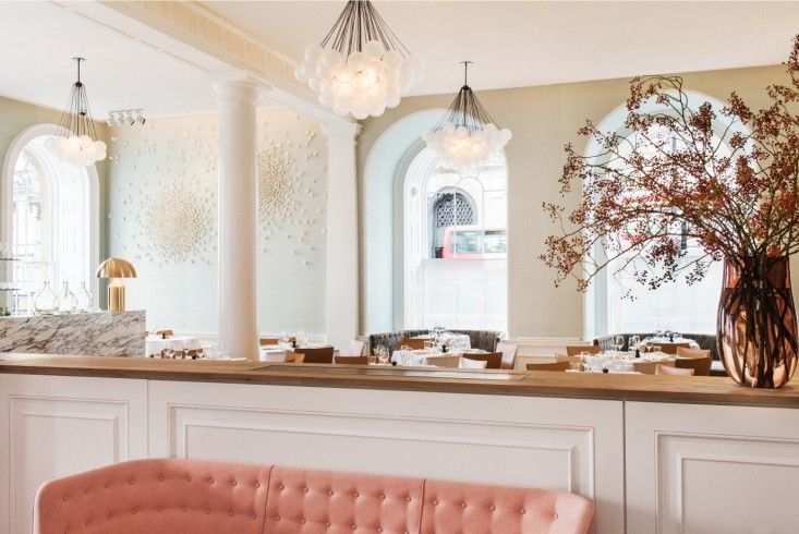 Spring Restaurant at Somerset House in London | Remodelista Beautiful colour scheme and overall feel.