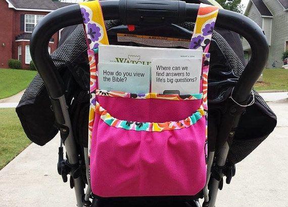 Uma ideia das mães que tem filho, fazerem uma bolsa no carrinho do bebe
