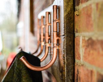 Copper Pipe Coat Hooks by CopperCreationz on Etsy