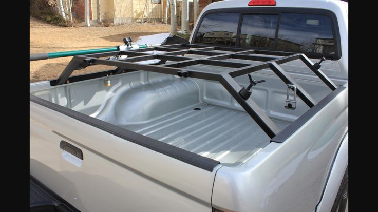 Truck bed rack for roof top tent