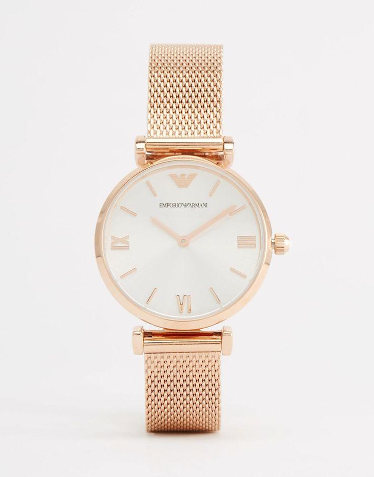 Emporio+Armani+Rose+Gold+Mesh+Gianni+Watch