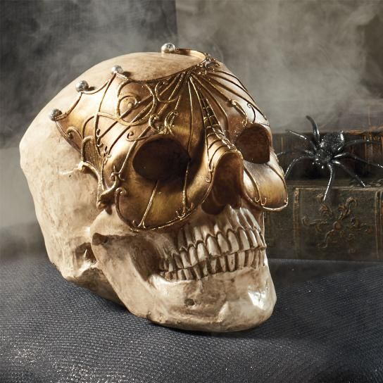 Skull Gold Mask Head