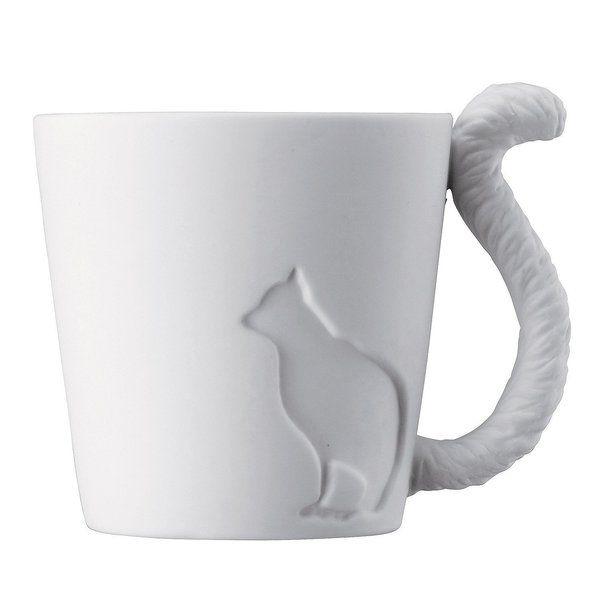 Tasse Katze aus Porzellan // porcelain cat mug via DaWanda.com