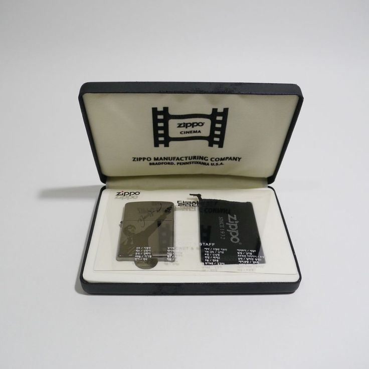 A Bittersweet Life Official Goods Cinema Zippo [Limited Edition] Byung-hun Lee