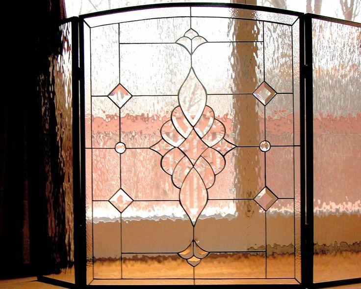 Rollins design.  #stainedglass #fireplace #screen #traditional #pattern #artsy #creative #elegant #beautiful #stylish #homedecor #decor #custom