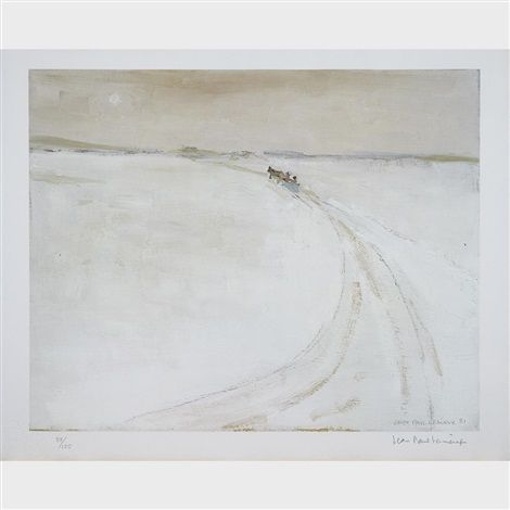 Jean-Paul Lemieux (Canadian, 1904–1990) La traversee de la riviere Peribonka (1981)