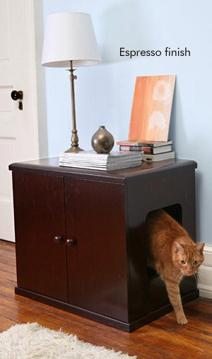The Refined Litterbox - Espresso - CatsPlay.com - Fun furniture, condos and climbing gyms for cats and kittens.