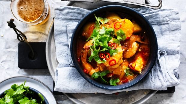 The tagine is the original one-pot wonder. This prawn dish's added advantage: it's relatively fast.