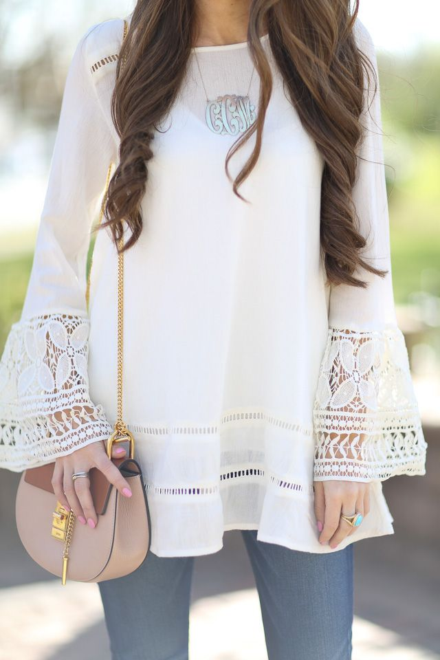 Southern Curls & Pearls: Bell Sleeve Obsessed