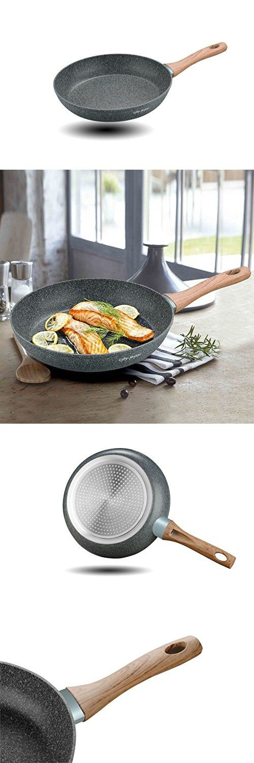 CateMaker 11 inches Frying Pan Stone/Granite Ceramic Non