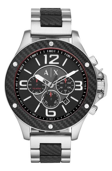 AX Armani Exchange Chronograph Bracelet Watch, 48mm available at #Nordstrom