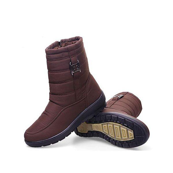 US Size 5-11 Winter Women Down Cloth Waterproof Snow Boots Keep Warm Flats