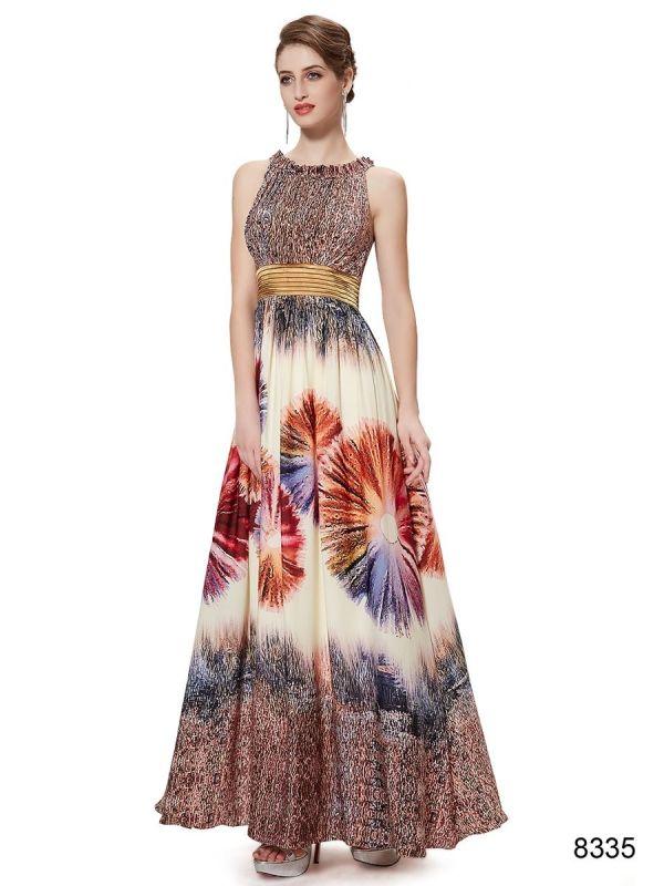 鮮やかなブラウン系パーティーロングドレス - ロングドレス・パーティードレスはGN|演奏会や結婚式に大活躍!
