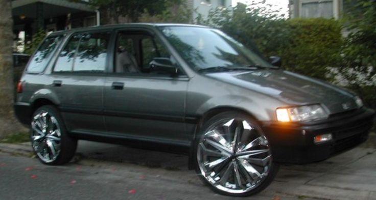 """Honda Civic Wagon EF 20"""" or 22"""" Rims Donk Modified"""