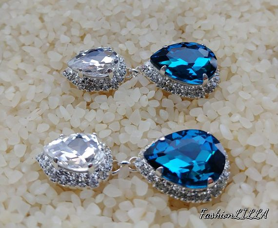 Check out this item in my Etsy shop https://www.etsy.com/ca/listing/575095016/sapphire-and-diamond-drop