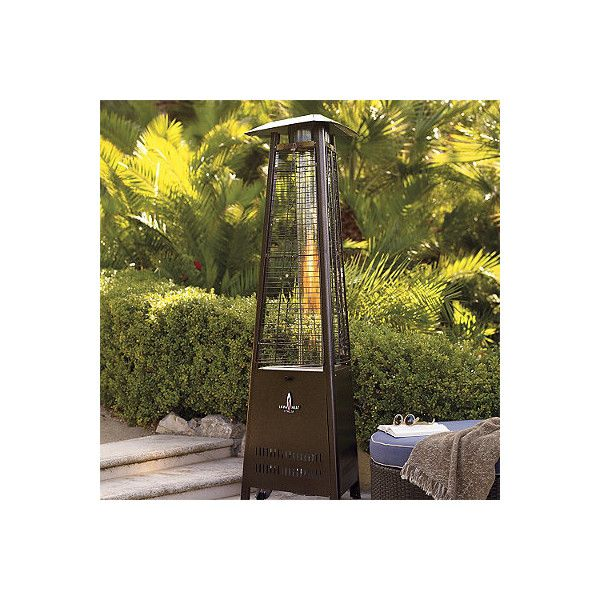 Capri Patio Heater - Stainless Steel ($1,099) ❤ liked on Polyvore featuring home, outdoors, outdoor decor, hearth, heaters, garden patio decor, outdoor heater, outside heaters and outdoor patio decor