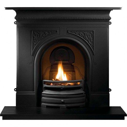 Pembroke Black Cast Iron Fireplace With Flueless Magiflame