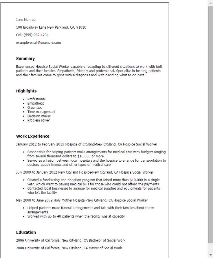 caseworker resume