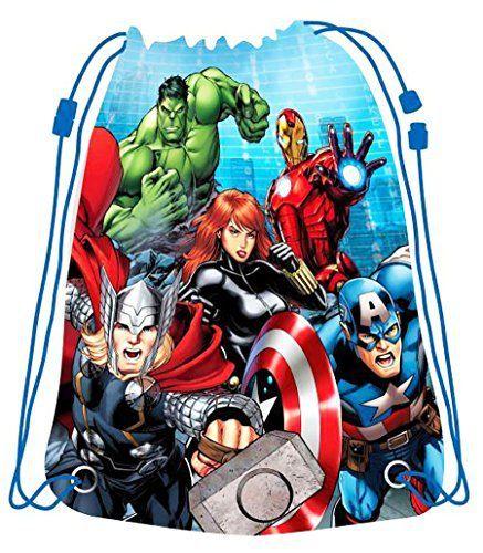 Sac à dos imperméable sport et piscine enfant Les Avengers Bleu 41x32cm: Sac à dos pour enfant à l'effigie des célèbres héros de Marvel:…