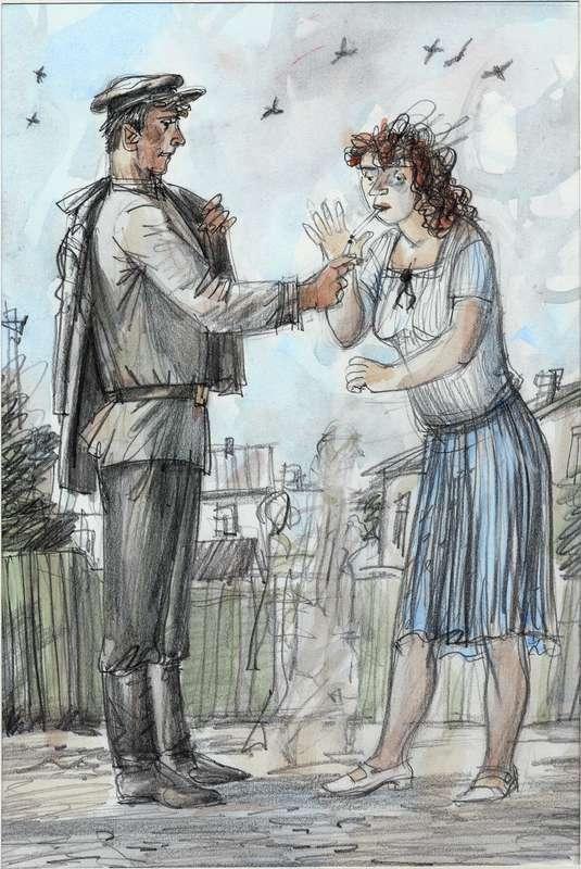 Иллюстрации к книге рассказов Василия Шукшина ОХОТА ЖИТЬ