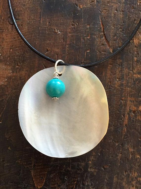 Turquoise and Shell Necklace by DesertGypsea on Etsy