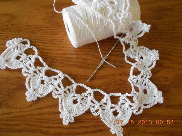 Orilla medias lunas tejido crochet                                                                                                                                                                                 Más