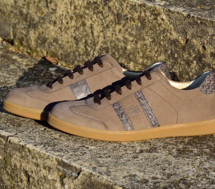 G&T bőr sportcipő Homok - Kroki