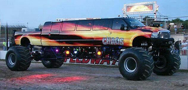 Monster Truck Limo Now Thats Double The Awsome Trucks And