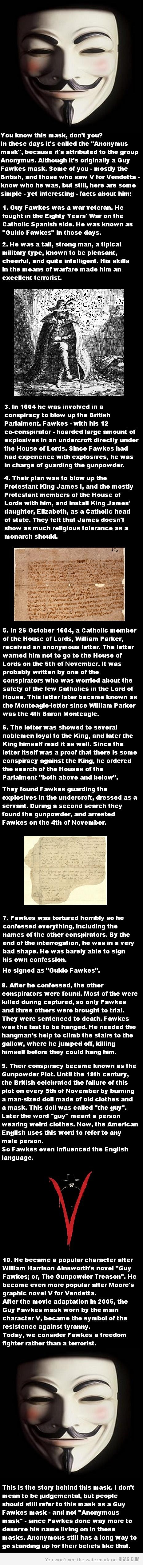 The story of Guy Fawkes