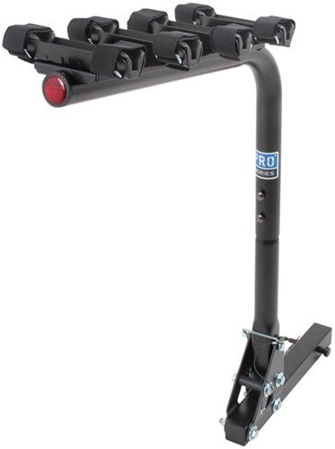 "Pro Series Eclipse 4 Bike Hitch Mounted Folding Rack w Frame Mount Cradles for 2"" Hitch Pro Series Hitch Bike Racks 63124"