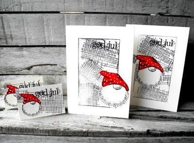 piabau: Julekort og gavemærker i anden stil