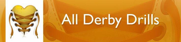 Website full of derby drills: blocking, jamming, agility, endurance, crosstraining, etc. #rollerderbydrills
