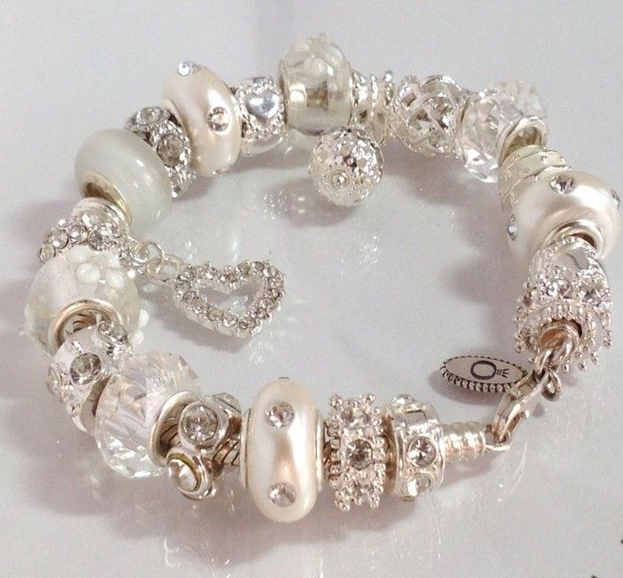 Pandora Bracelet Charms Anniversary LOve The Neutral Color Of This