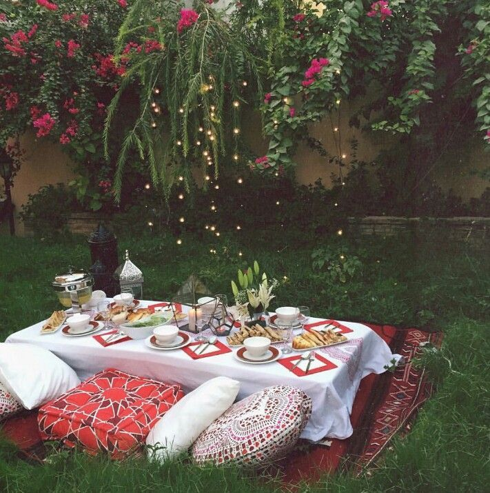 Ramadan Arrangement. Make table out of crates. Nail together so more secure.