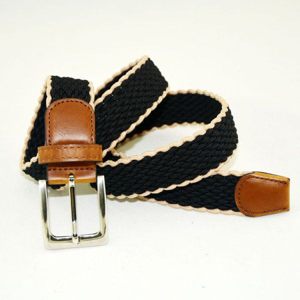 Mens Women Stretch Braided Elastic Belt Casual Pin Leather Buckle Strap Waistband at Banggood